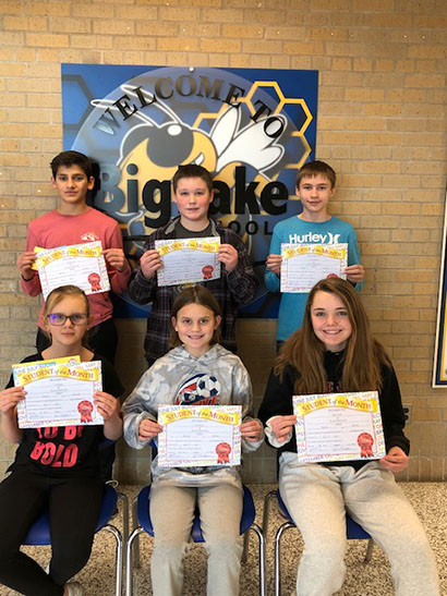 December Middle School Students of the Month