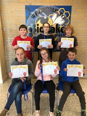 October Middle School Students of the Month