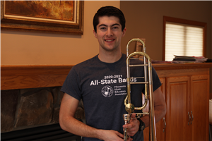 Senior Joshua Hunt Selected for All-State Band